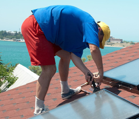 Installation-of-solar-thermal-system